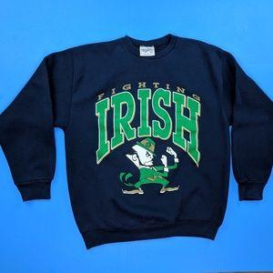 Vintage Notre Dame Sweatshirt USA Made Large